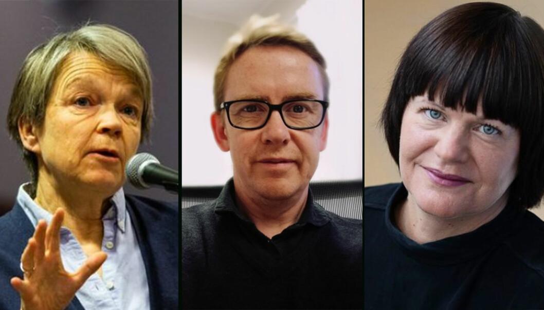 Fra venstre: Siri Forsmo, Hans K. Stenøien og Tine Arntzen Hestbek er tre av åtte ledere som i dag er ansatt på åremål
