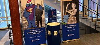 NTNU deler ut 105.000 tøymunnbind