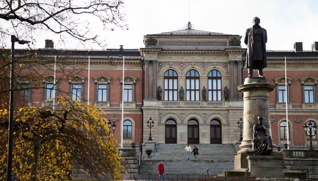 Også i Sverige ser de en økning i antallet juksesaker, slik som her ved Uppsala universitet.