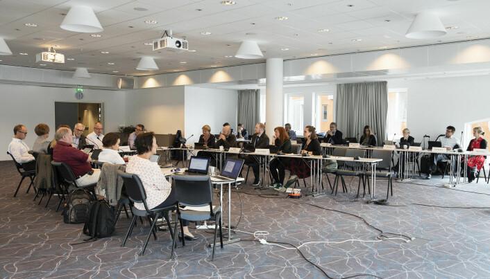 NTNUs styre i sving i 2018. Da foregikk styremøtet i Ålesund. Nå for tida foregår styremøtene digitalt.