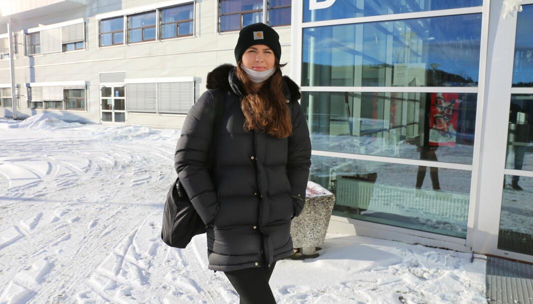 Førsteårsstudent Amanda Hodne tror studentene i Trondheim har hatt det bedre enn de i Oslo og Bergen ettersom Trondheim tross alt fikk noe som minner om en vanlig fadderuke.