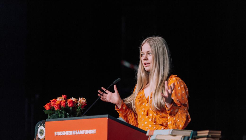 Isfit-president Mathilde Enkerud forteller at Studentersamfundet har vært viktig for å prøve å nå Trondheimsstudentene.