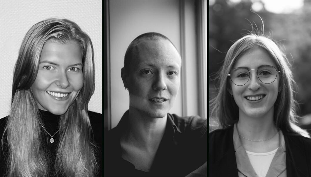 Victoria Wethal Bergh, Joel Hynsjö og Gro Anita Stovner har sett på hvor mye kunnskap folk har om havet.