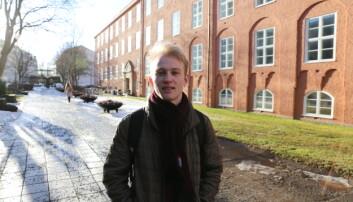 Andreas Faanes jobber hovedsakelig med masteroppgave og bruker ikke campus veldig mye dette semesteret.