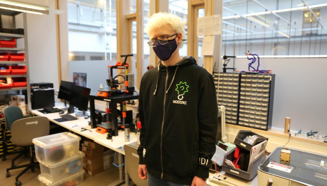 Eskil Dybvik er den som fikk utfordringen å lede Hackerspace gjennom en pandemi.