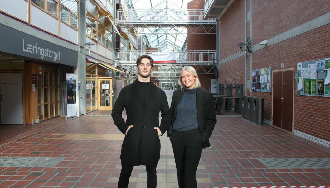 Joakim Erique Carli og Josefine Bolette Virik Fusdahl i YATA har sett seg nødt til å utsette Sikkerhetspolitisk dag.