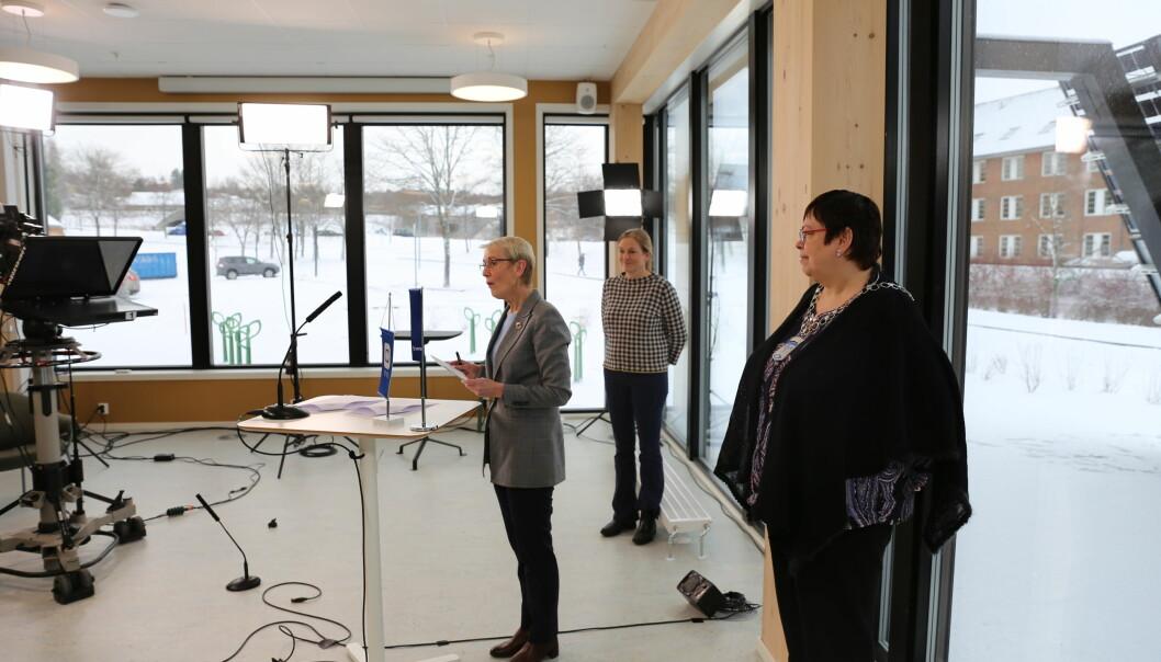 Rektor ved NTNU Anne Borg lovte sammen med konsernsjef ved Sintef Alexandra Bech Gjørv å videreføre det nære samarbeidet mellom de to institusjonene. Ordfører Rita Ottervik overværte begivenheten.