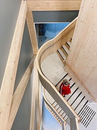 Bruk av tre i konstruksjonen anses som viktig og framtidsrettet.