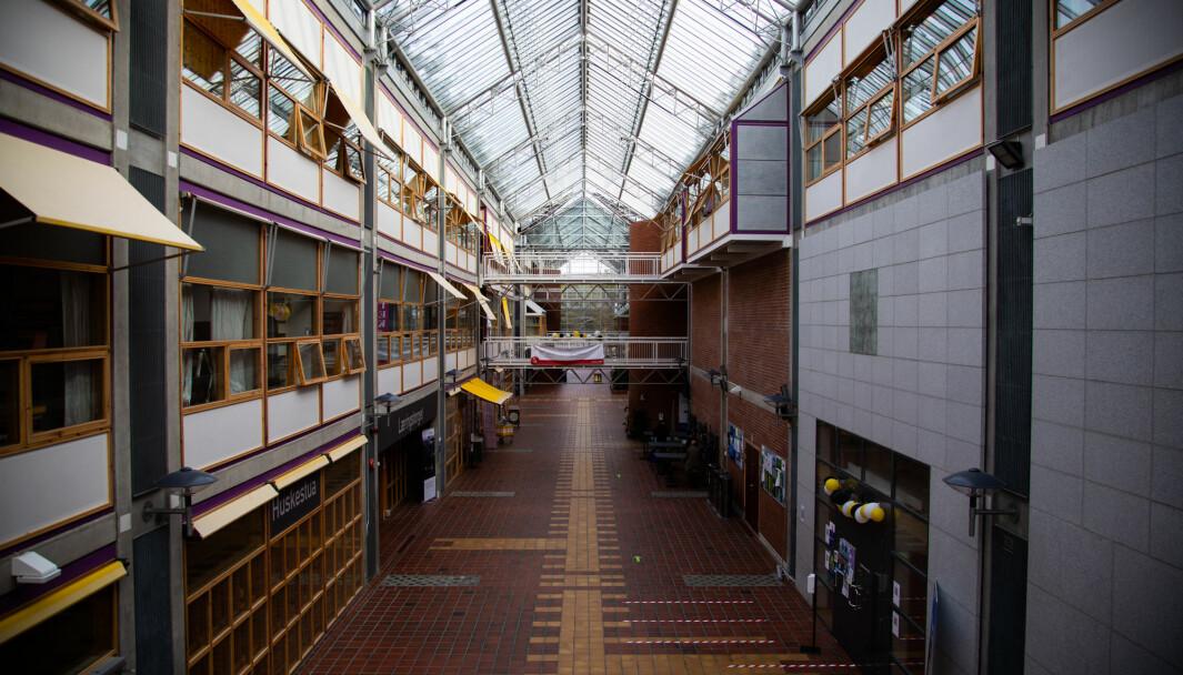 Illustrasjonsfoto: Opphold i gangene var blant det som ikke var tillat under reglene NTNU innførte etter Trondheim kommunes lokale forskrift.