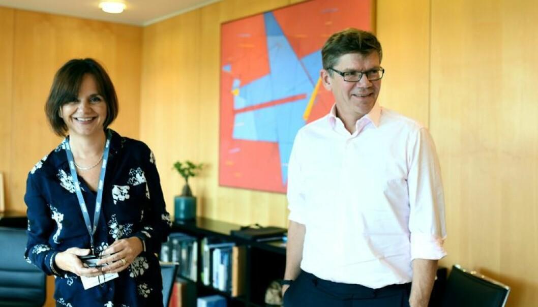 UiOs øverste ledelse de neste fire årene: Svein Stølen og Åse Gornitzka.