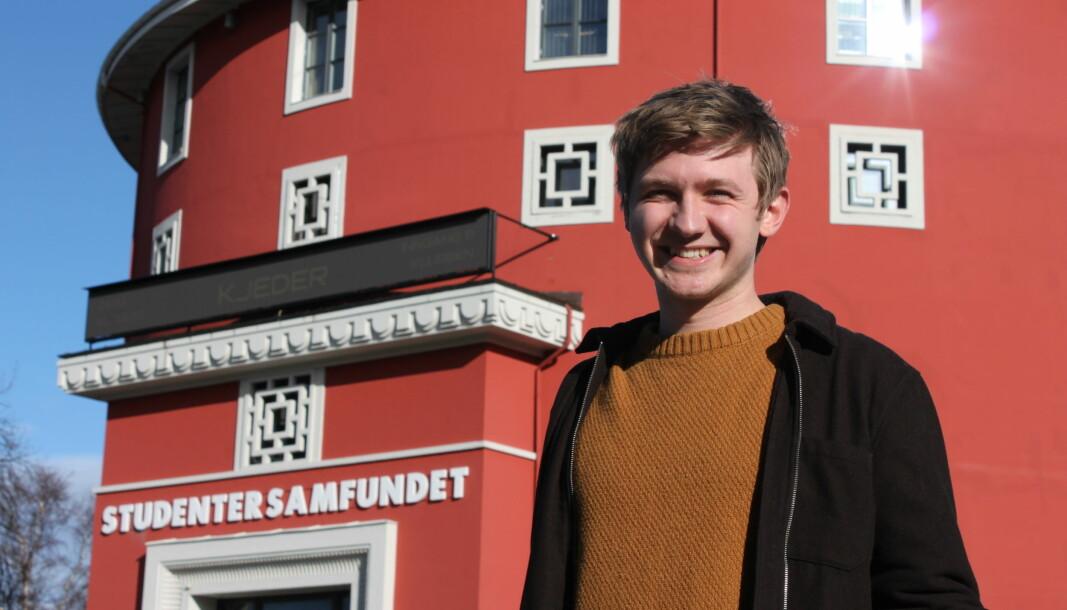Fredrik Akre ble valg til ny leder av Studentersamfundet i februar, og vil ta over som leder for det runde røde 17.mai.