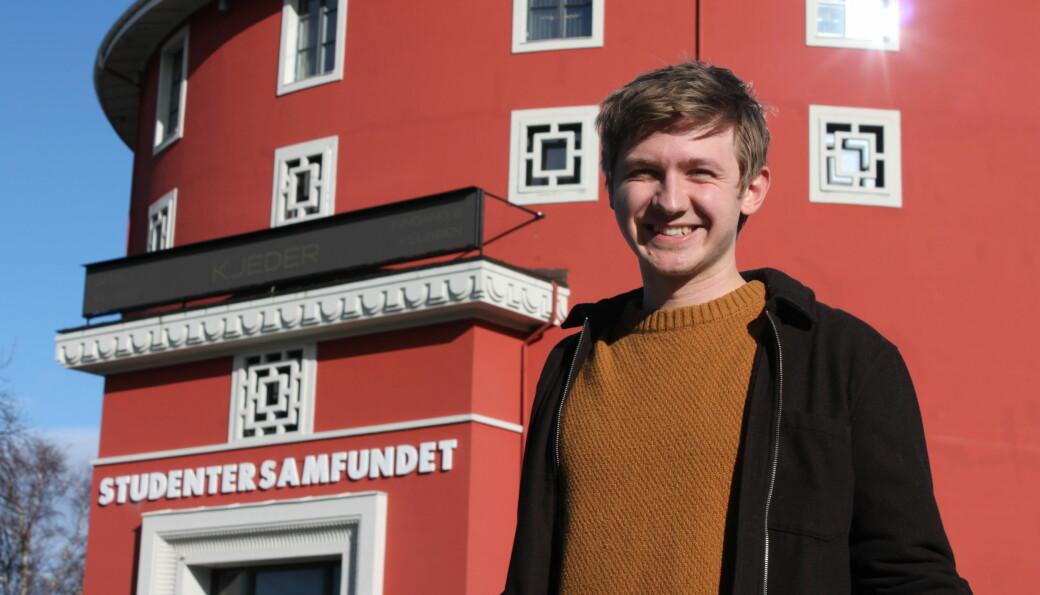 Fredrik Akre sier det blir mange arrangement dette semesteret og håper det ikke blir nødvendig med strenge restriksjoner.