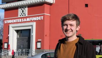 Samfundetleder Fredrik Akre sier han er i lykkerus etter å ha fått beskjeden om at finansieringen til Samfundets nybyggprosjekt nå er sikkret.