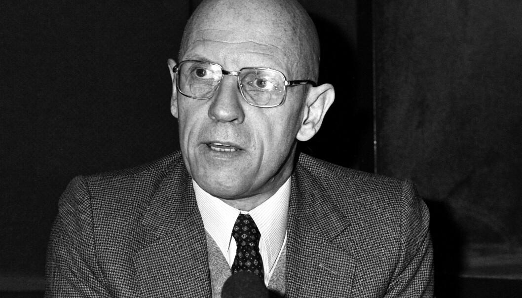 Portrett av Michel Foucault desember 1981 i Paris.