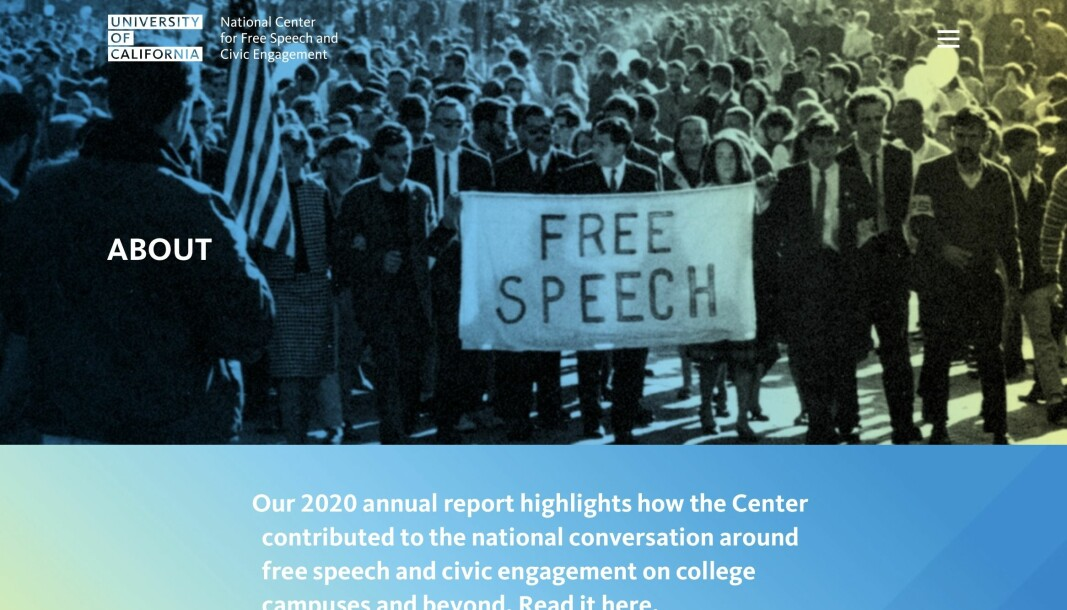 Four years ago University of California established a center assigned to further the right to free speech, partly in response to increasing demands by students for «safe spaces» and «trigger warnings» in American universities.