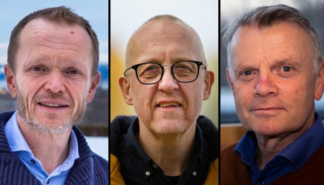 Historieprofessorene Kristian Steinnes, Øyvind Thomassen og Hans Otto Frøland har ikke mye godt å ai om faktagransking som metode. - Må aldri mer bli tatt i bruk.