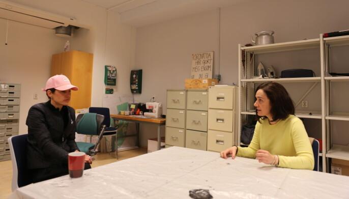 Ingvild Rømo Grande og Elena Pérez tror det er viktig at også kunsten tenker bærekraftig.