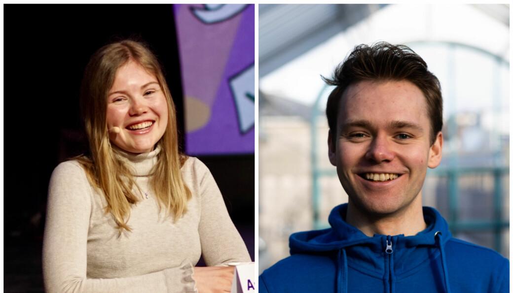 Amalie Farestvedt og Jørgen Valseth studerer henholdsvis nanoteknologi og industriell økonomi.