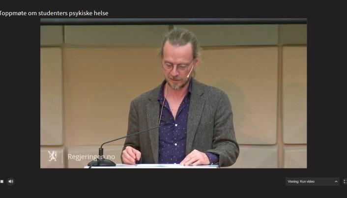 Peder Kjøs har tidligere fått reaksjoner på sine uttalelser om studenter under korona.