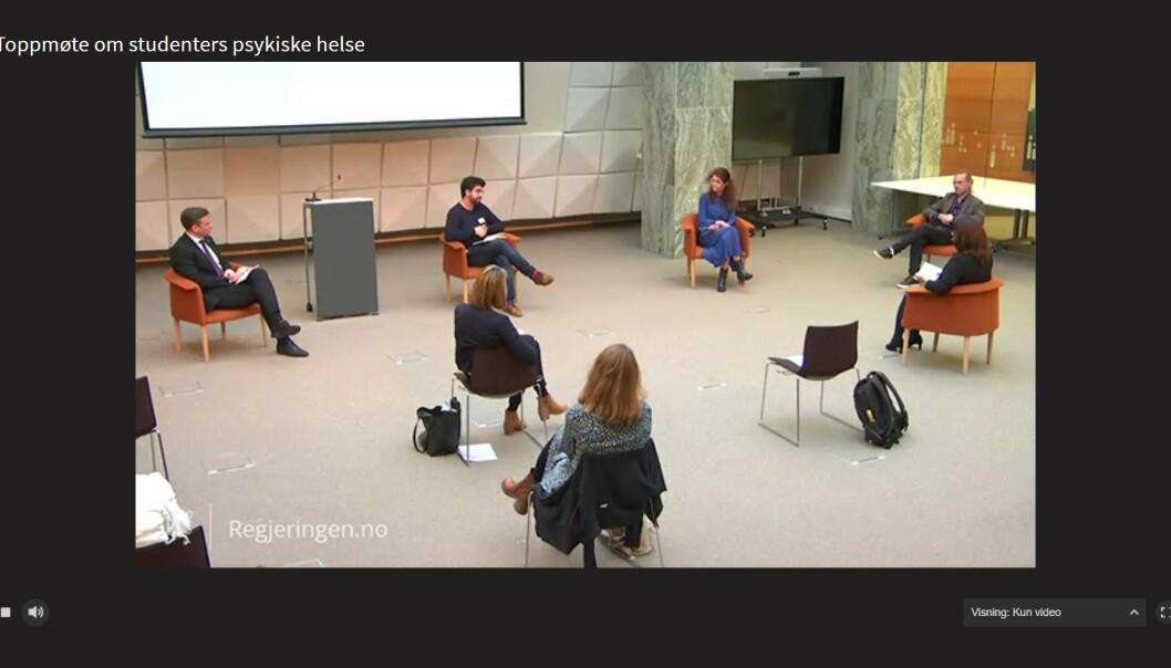 Toppmøtet foregikk digitalt fra Oslo.