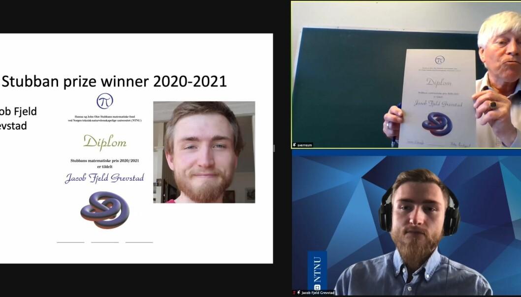 Prisen ble delt ut på Zoom onsdag. Stubbanfondets styre består av Peter Lindqvist, Sverre Smalø (avbildet) og Mette Langaas.