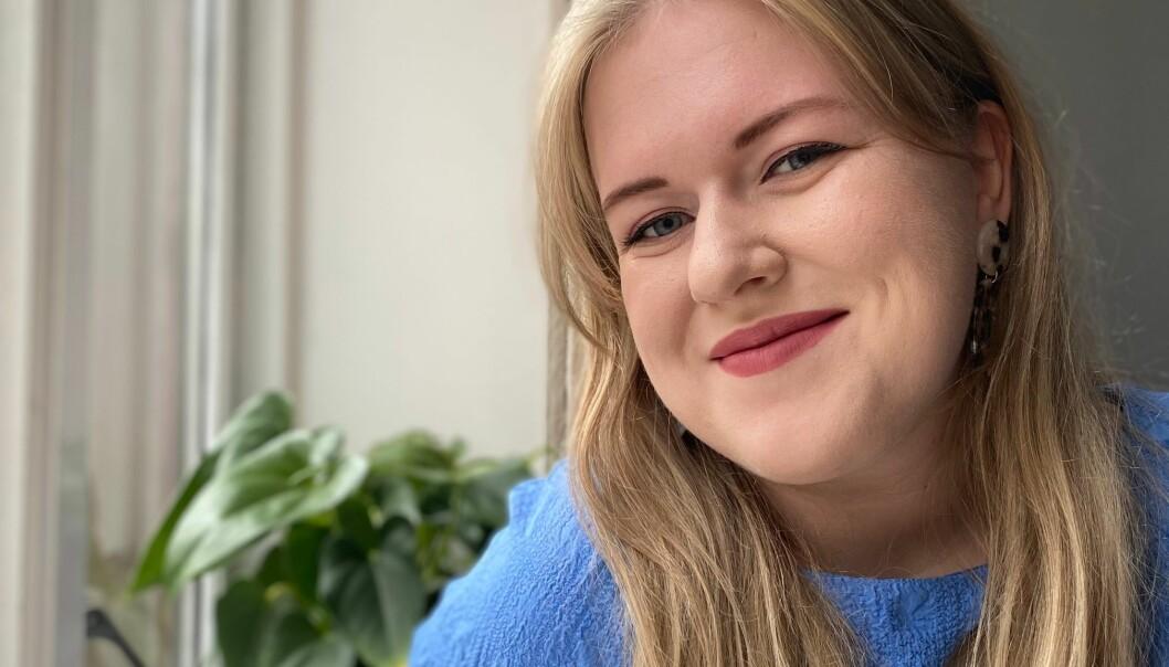Påtroppende leder i Norsk Målungdom Frida Pernille Mikkelsen