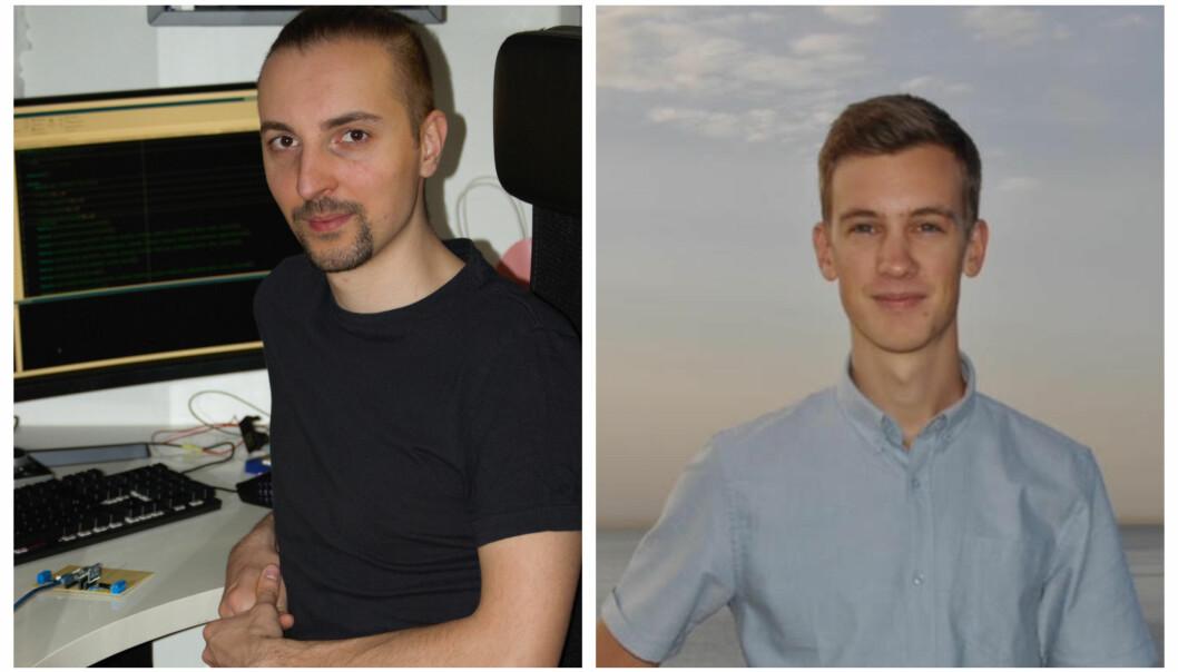 Aleksander Sendrowicz og Anders Bø gikk begge ut med de beste karakterene på sitt kull. Nå får de prisen til minne om NTNU-ansatte Varshita Venkatesh som døde i 2020.