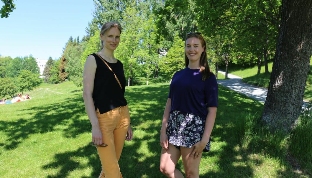 Psykologistudentene Guro Igesund og Julie Bjerkvik ser fram til å komme med et helt nytt samtaletilbud for studentene i Trondheim neste semester.