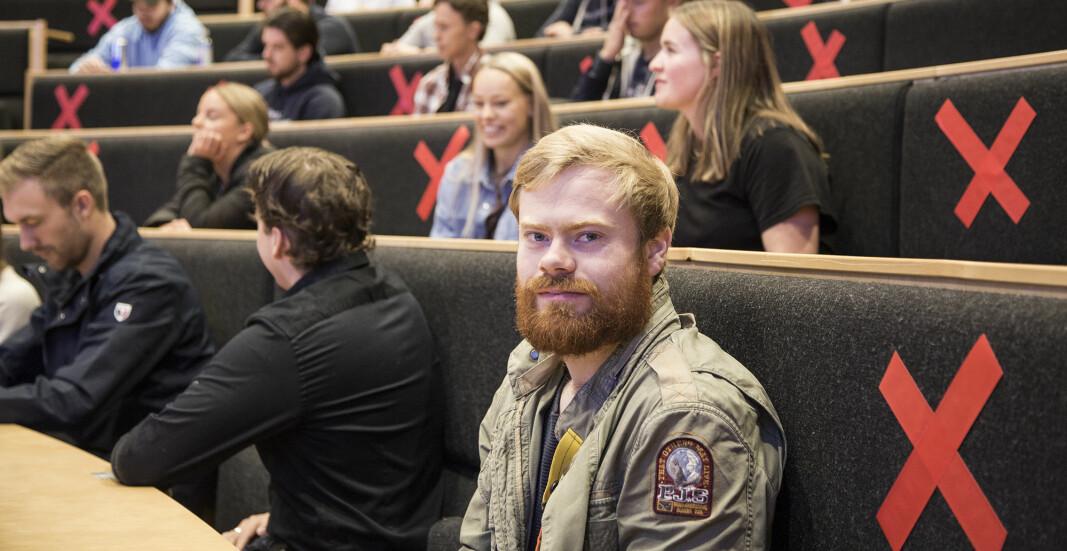 Rasmus Martinsen skal studere Shipping management, som er det studiet som har høyest poenggrense i Ålesund.