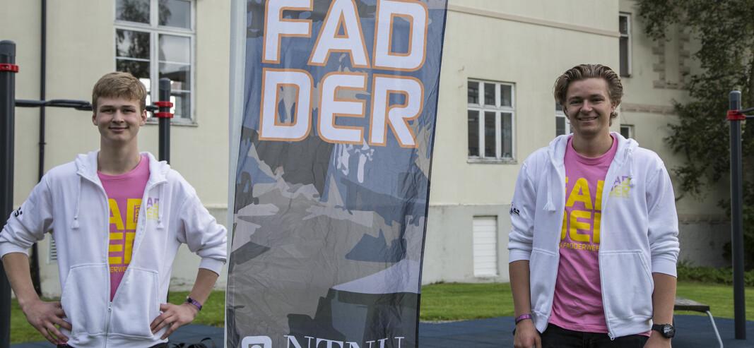 Nestleder Hermann Hansen og leder Børge Eriksen i Fadderstyret.