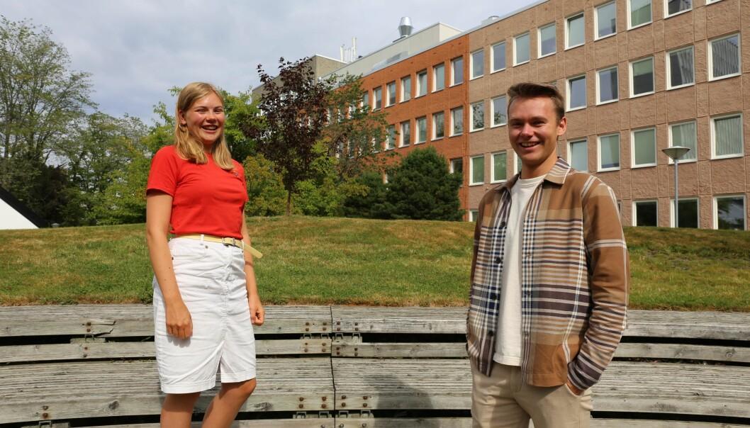 Amalie Farestvedt og Jørgen Valseth sier de blant annet er opptatt av studentenes psykososiale vilkår.