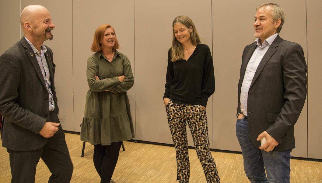 To erfarne og to nye representanter: Aksel Tjora, Kjersti Møller, Ingrid Bouwer Utne og Bjørn H. Skallerud.