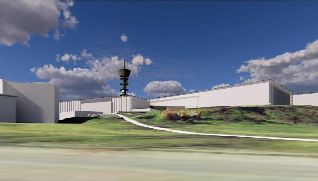 Hvorfor velger NTNU, et universitet som har et uttalt mål om fokus på bærekraft, rivning/nybygg framfor renovering? spør Pål Lader, som jobber med eksperimentell hydrodynamikk. Her ser vi Ocean Space Centre sett fra Kong Øysteins veg.