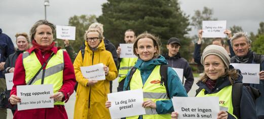 Beboerne med en innstendig appell til politikerne om å snu