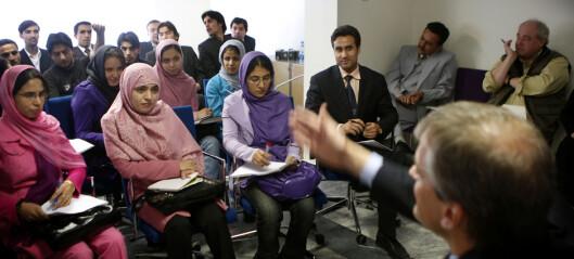 Få studenter ved universitetene i Kabul