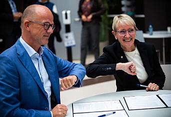 Signerte samarbeidsavtale mellom NTNU og NHO