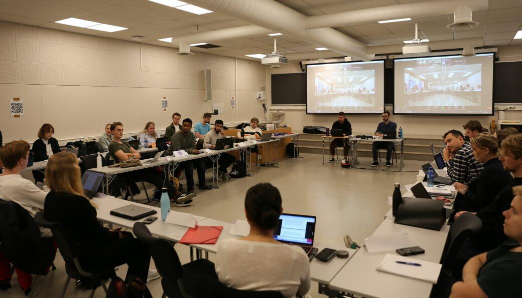 Studenttinget var samlet til møte i K5 på Gløshaugen kvelden torsdag 30. september.