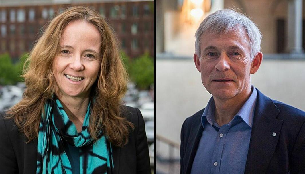 De leder hvert sitt fakultet og har håndtert diverse konflikter: Dekanene Monica Rolfsen og Olav Bolland