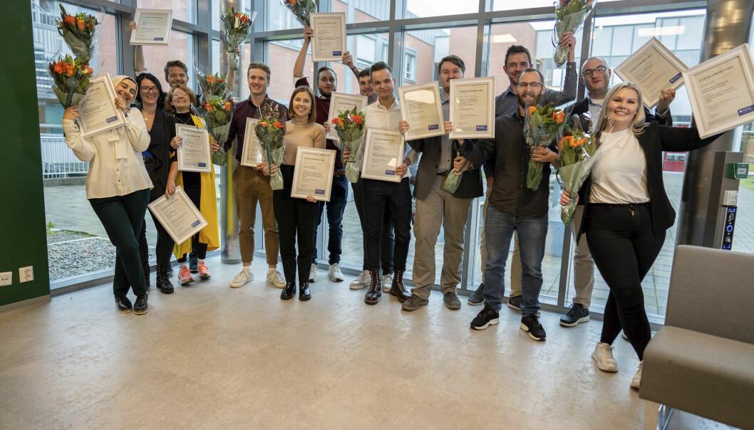 Glade vinnere av Eurekaprisen 2021 ved NTNU i Gjøvik