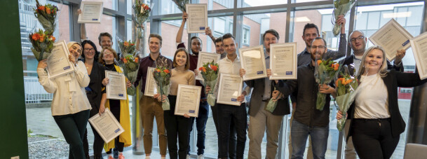 De fem beste bacheloroppgavene ved NTNU i Gjøvik fikk Eurekapris