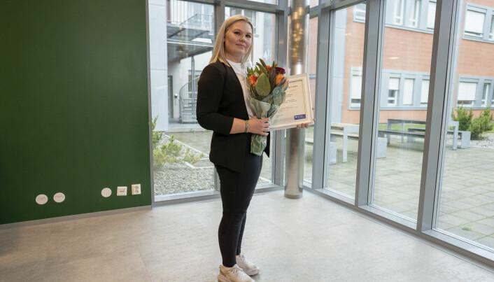 Katrine Wølstad-Knudsen. Den andre vinneren, Cathrine Hansen Akerhaugen kunne ikke møte på grunn av eksamen.