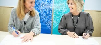 NTNU signerte avtale med teknologiselskapet Volue