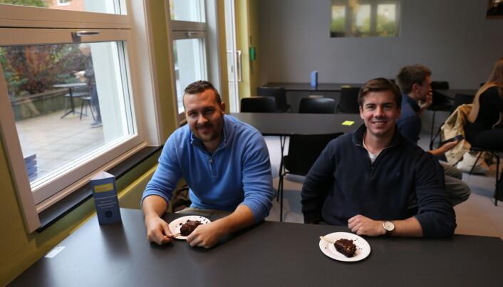 Eivind Kvalvik og Ole Kristian Skogly synes NTNU har håndtert koronapandemien godt.