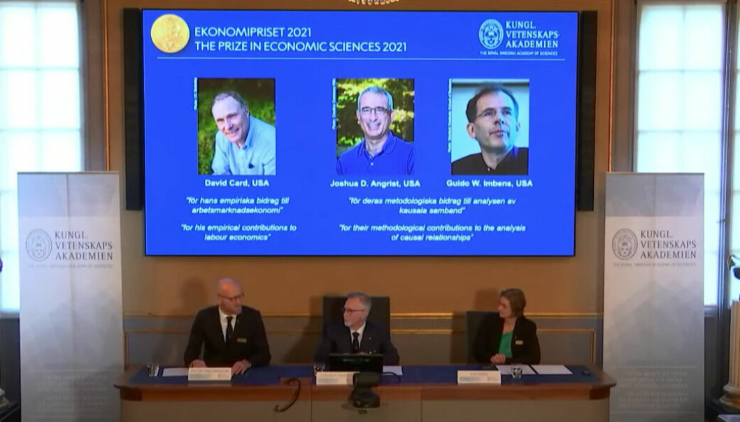 De tre økonomene har ifølge begrunnelsen bidratt til ny innsikt om arbeidsmarkedet.